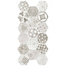 Equ. D-Hexatile cement garden grey 17,5x20  1m2./doboz