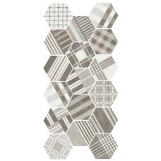 Equ. D-Hexatile cement geo grey 17,5x20  1m2./doboz